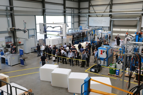 Hennecke Technical Centre - Plant Demo during INTERZUM Cologne